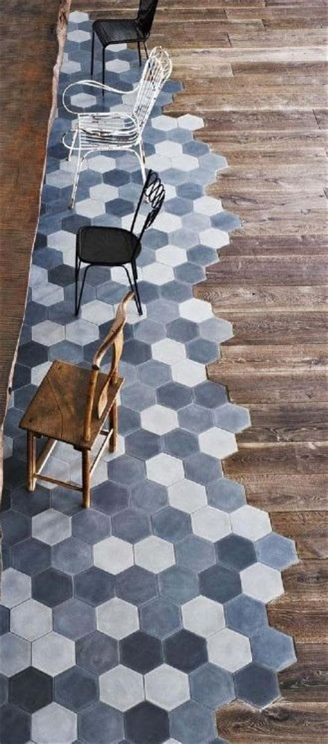 mixing tile flooring with wood a and creative take on