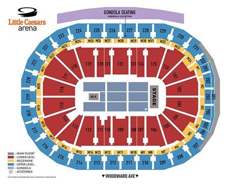 detroit pistons seating plan detroit pistons seating chart caesars arena in