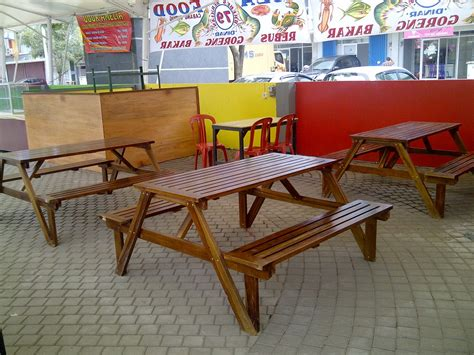 Meja Taman Lipat Jual Meja Kursi Taman Lipat Folding Garden Table Set Tirta Jati Furniture