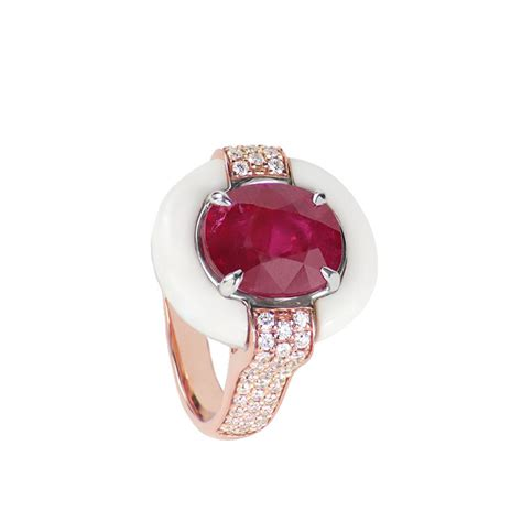 harmony ruby  onyx ring    statement