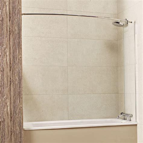 fixed bath shower screens lumin8 mini fixed bath screen showers