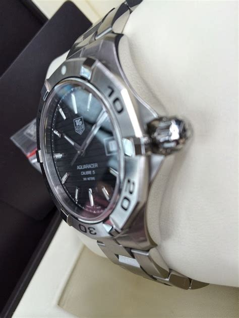 Jam Tangan Tagheuer Aquaracer Cal 5 Silver Black executive watches sold lnib tag heuer s wap2010 ba0830 aquaracer calibre 5 automatic