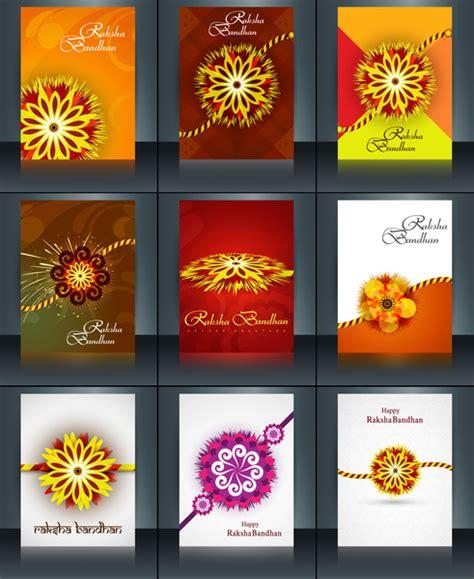 raksha bandhan card template beautiful raksha bandhan brochure template collection set