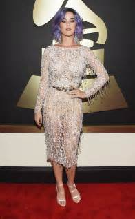 Carpet Katy Perry Lavender Haired Katy Perry Hits 2015 Grammys Carpet In