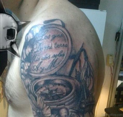 compass tattoo on shoulder 50 amazing compass tattoos on shoulder