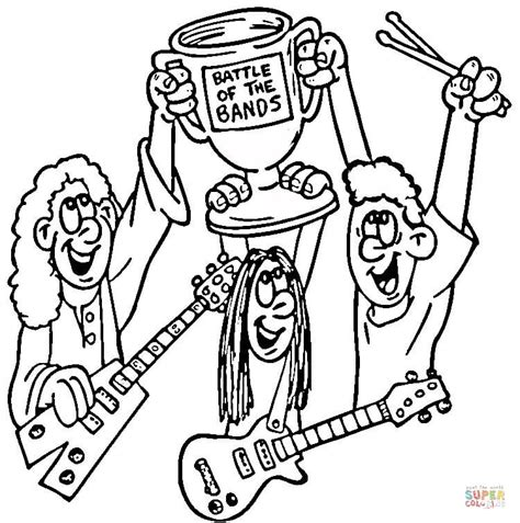 coloring book band battle of the bands coloring page free printable
