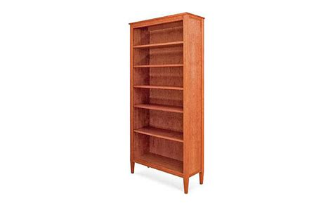 shaker moon bookcase fairhaven furniture