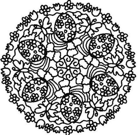 easter mandala with birds and eggs coloring page free download easter eggs mandala coloring pages or print