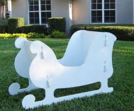 christmas outdoor santa sleigh ebay