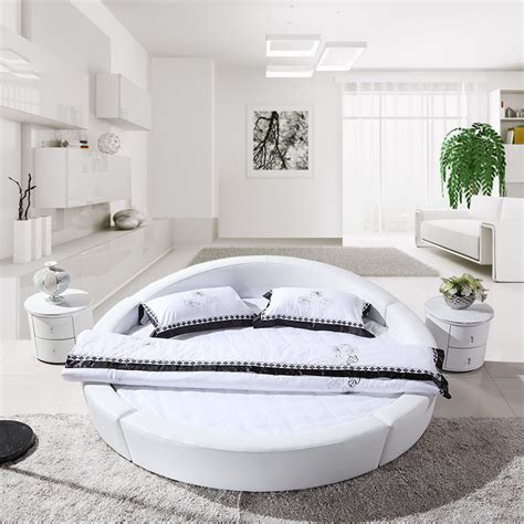 round leather bed leather bed modern round bed beds 2 m soft bed in beds