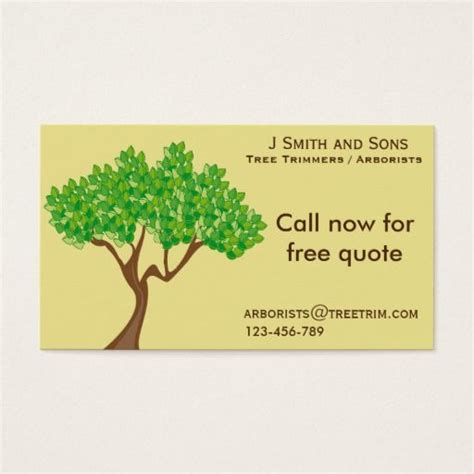 tree trimmer business card template 202 best tree trimmer business cards images on