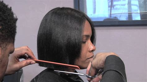 how to cut black hair in a bob how to cut a short bob style hair cut hair care
