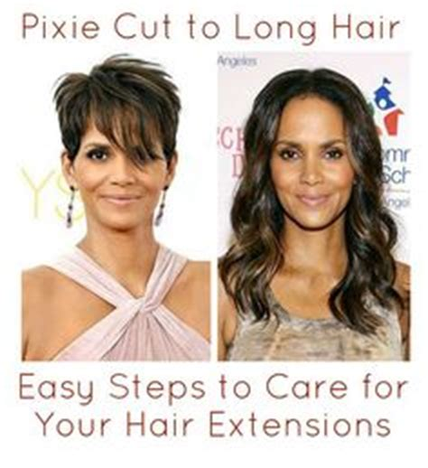 pixie to long hair extensions extensions for very short hair bing images hair