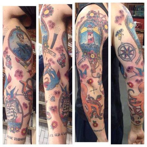 tattoo old school full arm 50 old school tattoos design idea on sleeve golfian com