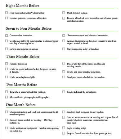 corporate event planning checklist template 9 sle event checklist template free sle exle