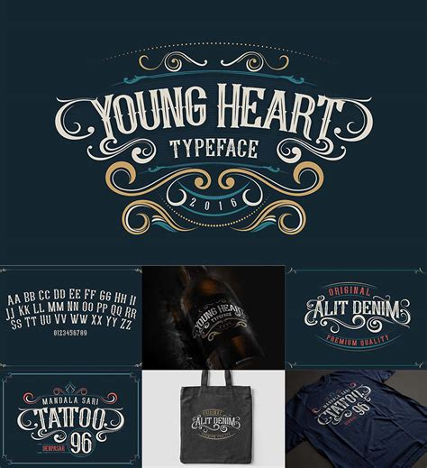 young heart retro font free download