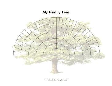 genealogy fan chart template 6 generation fan family tree template