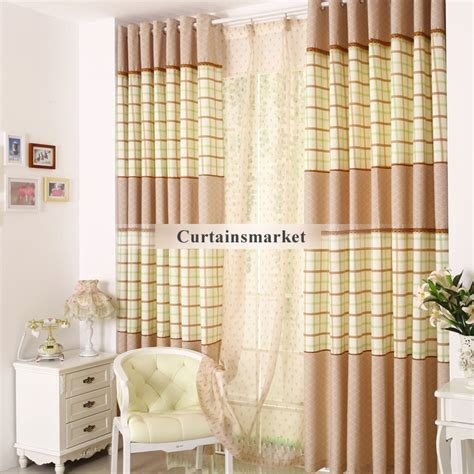 New Country Plaid Living Room Curtains Drapes Living Plaid Curtains For Living Room