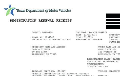 Auto Sticker Renewal by Registration Receipt A Registration
