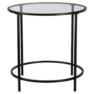 Black Glass Side Table Soft Modern Side Table Black Clear Glass Target