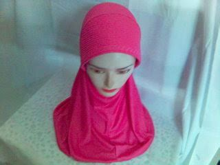 Vania Jilbab Biru Hitam Putih fashion keren by novi aneka jilbab model terbaru