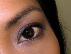 black eye color a 10 makeup look smokey taupe brown and violet