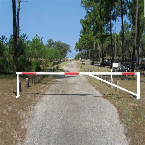 swing barrier gate extending red white telescopic swivel gate barrier 3 5