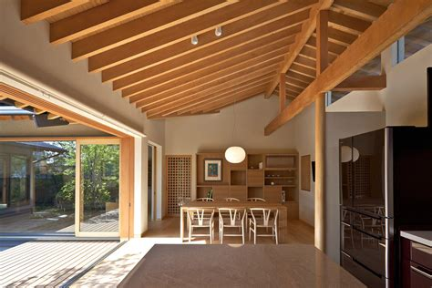 modern japanese house interior timber framed japanese house built around private gardens idesignarch interior