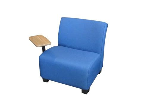 Lounge Chair With Tablet Arm by Steelcase Tablet Lounge Chair In Blue Fabric With A