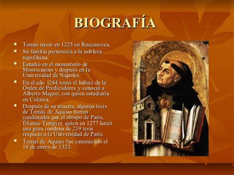 biografia santo tomas de aquino santo tomas de aquino presentacion