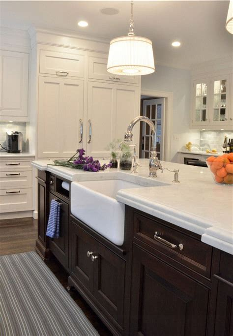 island kitchen sink farmhouse kitchen kitchen island with farmhouse sink a rohl fireclay apron sink provides
