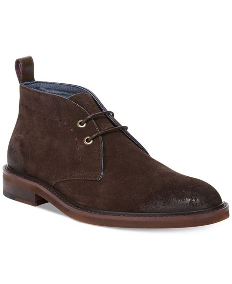 hilfiger chukka boots hilfiger concord chukka boots in brown for lyst