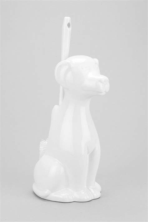 Gifty Things Bath by Toilet Brush Holder Dogs And Toilet