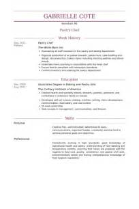pastry chef resume template pastry chef resume sles visualcv resume sles database