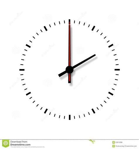 imagenes de numeros sin fondo reloj sin n 250 meros en el fondo blanco stock de ilustraci 243 n