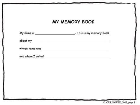 Best Photos Of Memory Book Pages For Adults Memory Book Pages Free Printable Memory Book Dementia Memory Book Template
