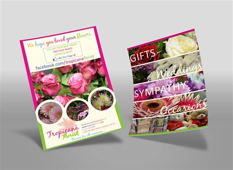 Home Design Examples tropicana florist leaflet design root marketing