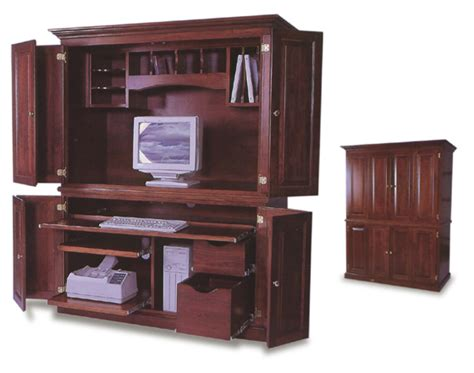 Office Armoires Furniture by Amish Office Computer Armoire Amish Office Furniture