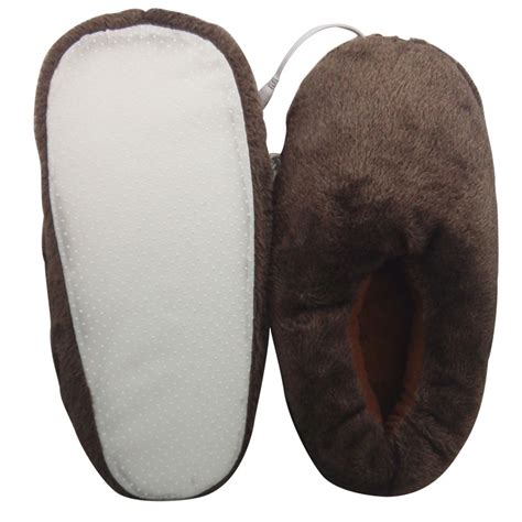 heated slippers plush usb laptop pc electric heating slippers heated shoes