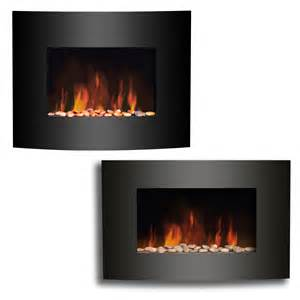 new wall mounted electric fireplace black curved