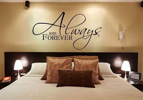 bedroom wall decal always and forever wall decals for the bedroom wall