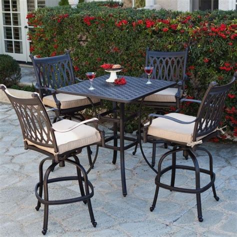 bar height outdoor table set outdoor bar height table high stools patio tables dining