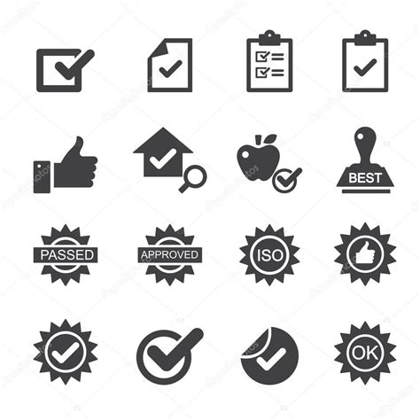 icon design quality iconos de control de calidad vector de stock 169 jacartoon