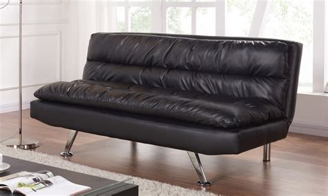 sofa style bed groupon black faux leather sofa bed groupon