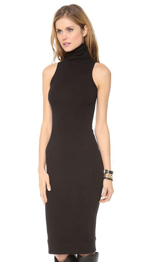 sleeveless dress rachel pally sleeveless turtleneck dress black in black