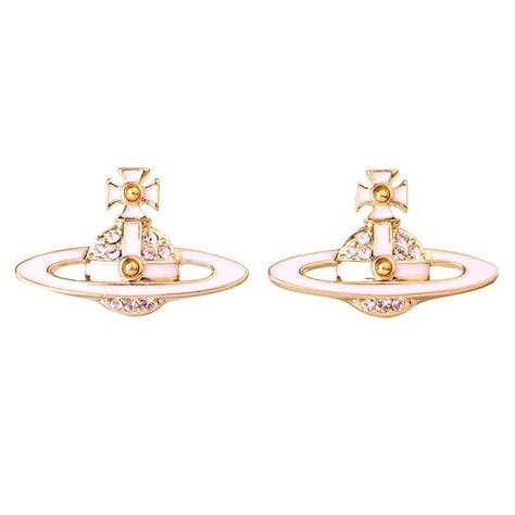 vivienne westwood neil mini bas relief earrings pale pink