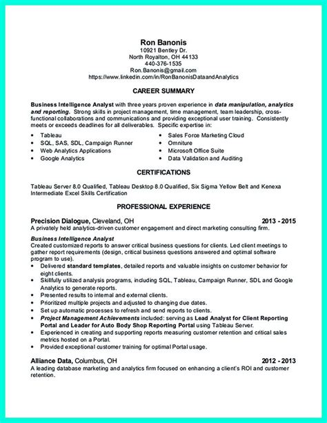 data analyst resume will describe your professional profile skills education and experience