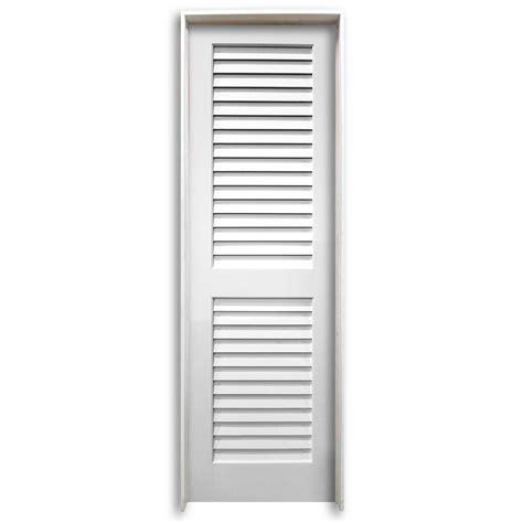 Prehung Louvered Interior Doors 28 Quot Pre Hung Interior Plantation Primed Louver Door Home Surplus