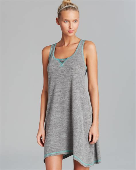 lyst lucky brand the strand tank dress swim cover up in gray