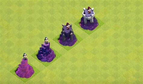 clash of clans wizard level 4 new town hall 11 look and wizard tower level 9